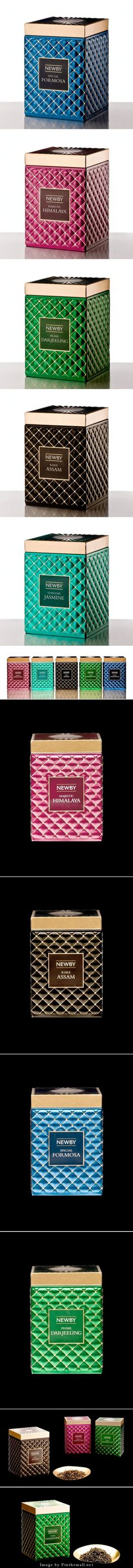 Newby Teas' Gourmet Collection #packaging - http://www.packagingoftheworld.com/2014/11/newby-teas-gourmet-collection.html