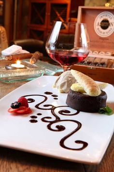 Delight in famous desserts, luscious liquors and fine cigars. Famous Desserts, House Restaurant, Dessert Ideas, Cigars, Destiny, Liquor, Plating, Dining, My Favorite Things