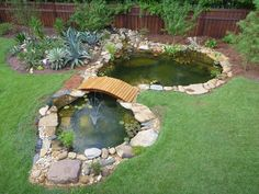 Small Backyard Ponds, Outdoor Ponds, Backyard Water Feature, Small Ponds, Natural Swimming Ponds, Natural Pond, Stone Landscaping, Outdoor Landscaping, Pond Rocks