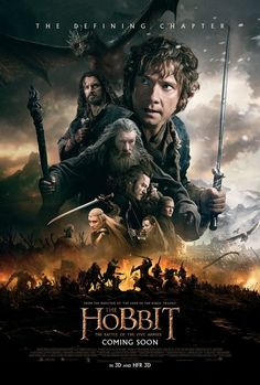 Here is the theatrical one sheet poster for The Hobbit: The Battle of the Five Armies, featuring Martin Freeman as Bilbo Baggins (and Benedict Cumberbatch as Smaug!)