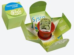 "Leinicke Group, Inc.-Sysco Direct Mail  An elaborate invitation proved to be an effective tool to increase attendance at SYSCO's 2010 Fall Food Show. The ""green"" theme Let's Grow Together was punctuated with a planter, soil and seeds that come inside the box. The intricate die-cut box served as the invitation with show information printed on the inside."