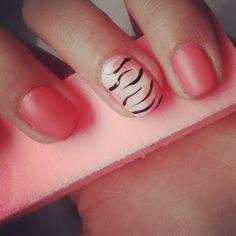 pretty pink nails.