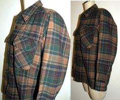 1970s 80s Mens Pendleton Shirt / WOOL / by JewvenchyVintageshop