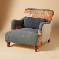ONE OF A KIND HIMANI SARI ARMCHAIR - Sari Chairs - One of a Kind - Furniture & Decor | Robert Redford\'s Sundance Catalog
