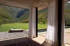 rideaux sur baies vitrées