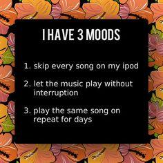 Three Moods To Listen Music On iPod.