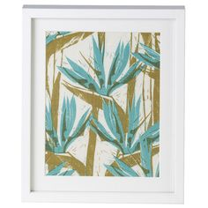 Teal Bird of Paradise Cloth Print - Corban & Blair - Corban & Blair
