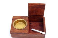 Wooden handmade ashtray
