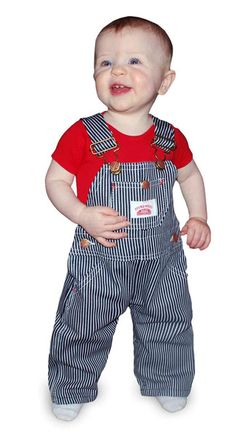Made in USA Kids Stripe Overall, Railroad Stripe Kids Overall – Round House American Made Jeans Made in USA Overalls, Workwear - size 6 ($19.95)