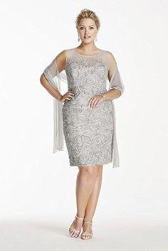 Novelty Plus Size Beaded Illusion Short Soutache Mother of Bride/Groom Dress... David's Bridal http://www.amazon.com/dp/B00ZDP3WWU/ref=cm_sw_r_pi_dp_X5o7vb1QHG4JX