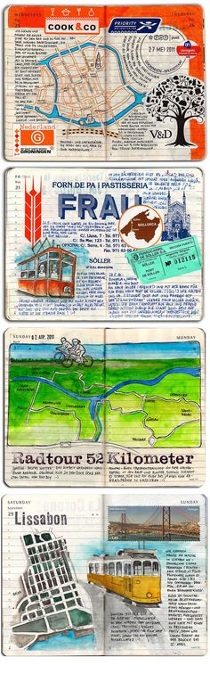 Moleskine By Kathrin Jebsen-Marwedel | travel journals. Wow this is an amazing travel journal.