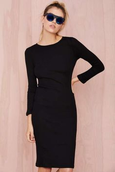 BLQ Basiq Headliner Ribbed Dress - Clothes