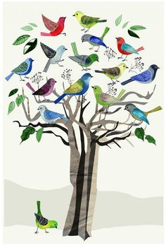 Singing Tree, 50x70 cm - New arrivals!