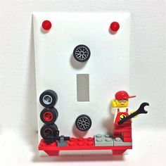 Mechanic 02 LEGO® Light Switchplate by BrickShtick, $28.50 USD