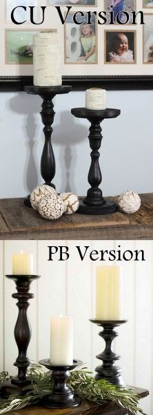Pottery Barn Knock Off Candles & Holders