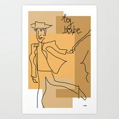 Hey Babe Art Print by sladja - $22.88