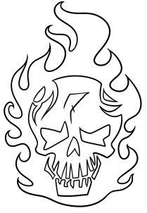 free suicide squad coloring pages - suicide squad joker skull coloring cute coloring pages