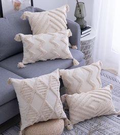 Lila Tasseled Pillows