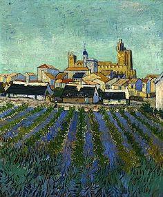 View of Saintes-Maries - Vincent Van Gogh (1888)