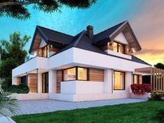 DOM.PL™ - Projekt domu DM Opałek X 2G CE - DOM GM3-32 - gotowy koszt budowy Home Fashion, Mansions, House Styles, Minecraft Pe, Home Decor, Ideas, House Template, House Front Design, Prefab Homes