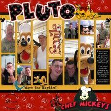 Pluto at Chef Mickey's. Disney World