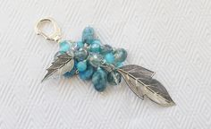 Leafy Turquoise Purskey by Dean Designs