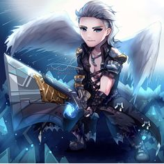 Image may contain: 1 person Mobiles, Miya Mobile Legends, Alucard Mobile Legends, Mobile Legend Wallpaper, League Of Legends, All Art, True Colors, Cute Boys, Character Art