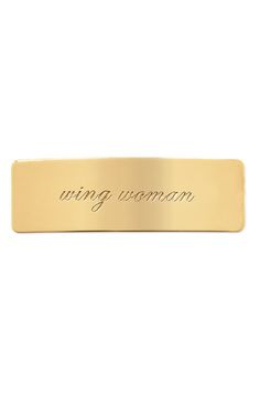 Wing Woman, gold - $19
