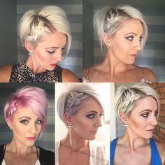 "•#shorthairtutorialmonday •Real hair/real people •short hair enthusiast  •Uberliss sponsored stylist  •""Breathing dreams like air"""