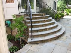The Steps leading to your dream patio...by Nitterhouse Stone Stairs, Pergola Curtains, Front Steps, Stepping Stones, Home Improvement, Backyard, Sidewalks, Extension Ideas, Retaining Walls