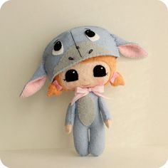 Peek-a-Boo Eeyore Pattern Kit by Gingermelon on Etsy