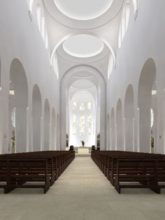 Interior reconstruction of the St. Moriz church by John Pawson