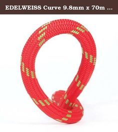 EDELWEISS Curve 9.8mm x 70m SuperEverdry Unicore Rope Red One Size. Featuring a 9.8mm diameter, an HD cover, and low-impact force, this high-performing single-rope delivers the right mix of qualities for sport and trad climbing. Allowing you to work up to a fast progression, it handles well and supports through a safe, durable feel. UniCore SuperEverydry gives it an extra edge, shedding water far beyond UIAA standards.