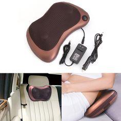 27.54$  Watch here - http://aliz0q.shopchina.info/go.php?t=32763370832 - Electronic Massage Pillow Massager Cushion Car Lumbar Neck Back Shoulder Relax 27.54$ #magazineonline