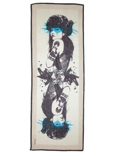 Fornarina foulard feat. Fin Dac #artwork #accessories #myfornarina #scarf #fornarina #FinDac Shop now on www.fornarina.com