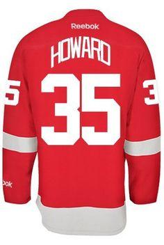 Jimmy Howard Detroit Red Wings Reebok Premier Home Jersey NHL Replica – Detroit Sports Outlet