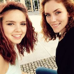 Marielena Krewer and her sister