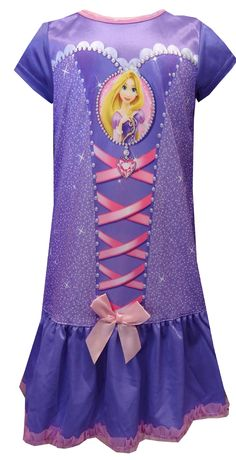 Disney Rapunzel Dress Like A Princess Toddler Nightgown Sure to please the little princess in your life, these flame resistant night gowns for toddler girls feature Disney princess favorite Rapunzel from the movie Tangled. Fashioned to look like Rapunzel's gown, your little sweetie will feel like a princess in this night gown. Machine wash, delicate cycle in a lingerie bag. $18
