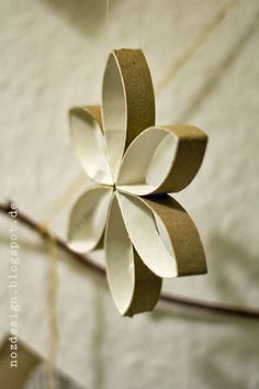 flowers / stars made of toilet paper rolls