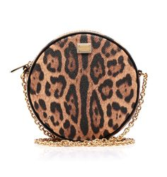 Leo printed leather roundshape crossbody cluctch #bag. #animalier by @Jennifer Souza & Gabbana