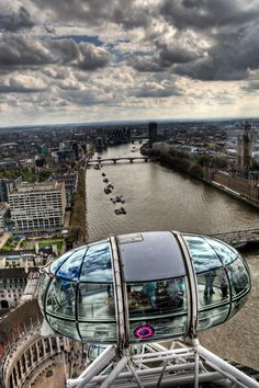 The London Eye is a giant Ferris wheel on the South Bank of the River Thames in London, England.