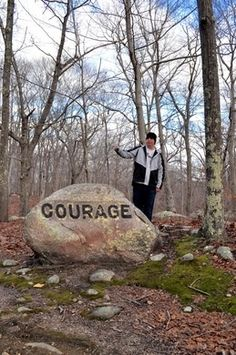 A New England ghost town features a trail of boulders etched with intriguing life lessons