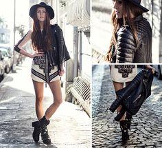 Boda Skins Jacket, Oasap Dress, Asos Hat, Asos Boots