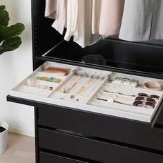 """KOMPLEMENT Pull-out tray, black-brown, 39 3/8x22 7/8"""" - IKEA Bedroom Built In Wardrobe, Ikea Wardrobe, Master Closet, Master Bathroom, Pax System, Drawer Mat, Drawer Fronts, Ikea Komplement, Armoire"""
