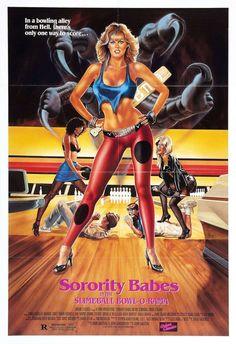 Sorority Babes in the Slimeball Bowl-o-rama [DVD] [Blu-ray] Horror Movie Posters, Horror Films, Movie Titles, Movie Tv, The Stranger Movie, Nostalgia, Vhs, Scream Queens, 1980s