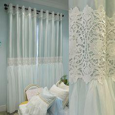 雅熙莱帝 精美韩式高精密拼接客厅卧室窗帘窗纱定制 蜜诺雅