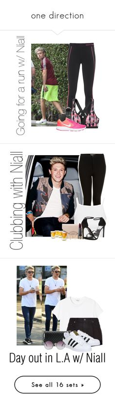 """one direction"" by miranda5sos1d ❤ liked on Polyvore featuring beauty, Juicy Couture, Victoria's Secret, NIKE, Topshop, Givenchy, Stuart Weitzman, Bite, Charlotte Russe and Monki"