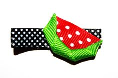 Watermelon Hair Clip by AndreasBowBoutique on Etsy, $3.00