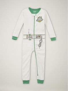 While researching pajamas... this Superhero Uniform Sleeper. Wish I were a kid so I could wear this!