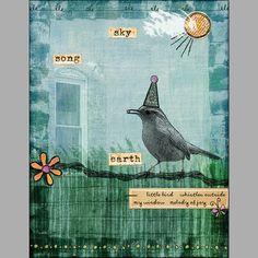 """""""Little Bird"""" Digital Scrapbooking Layout by Karen Chandler"""